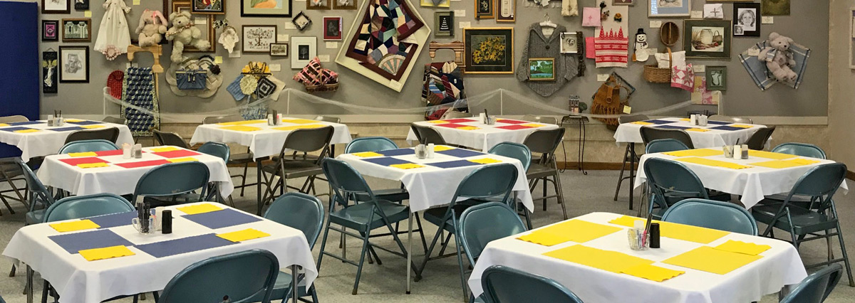 The Table Setting Luncheon with Craft Display is an SCCC tradition since 1930. It is a two-day event that includes a ticketed luncheon open to the public, member craft display, and a raffle.