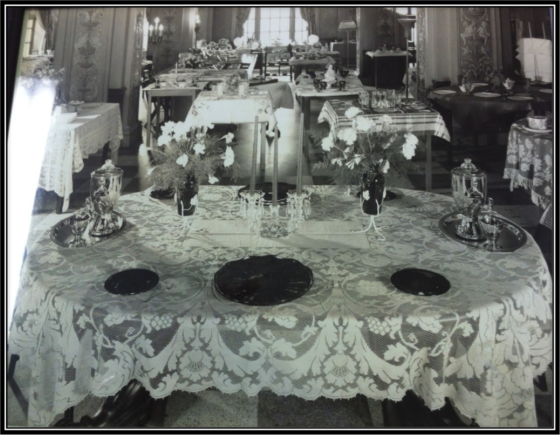 Typical Table Setting of the 1930's